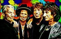Rolling Stone Magazine Art - Rolling Stones Mystical by Paul Van Scott