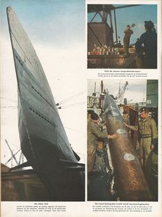 Signal 1941 no.6 H s010 U boot in port. Food supplement, water and torpedo.
