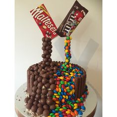 Infinty MnM and Malteser cake! Popular chocolate inspired cake for birthday cakes