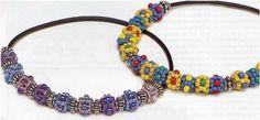 The Beading Gem's Journal: Beading Around Leather Cords Jewelry Tutorials