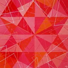 Akryl Trigo Num 20 #acryl #painting #triangles #geometric #abstract #modern #art #pink