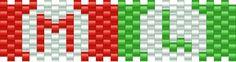 mario M luigi L bead pattern