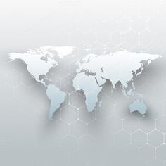 White world maps on gray background by VectorShop on @creativemarket