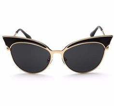 >> Click to Buy << GAMT Trend Retro Sexy Cat Eye Sunglasses Yurt Chic Cat Eye Sun Glasses Super Popular Gold Frame Black #Affiliate