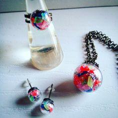 #color  #nolacapricci  #earrings #blue #dıy #pendant #pendants #necklace #necklaces #collar #ring  #primavera #gold #bronce #cooper #flowers #flower #cristal