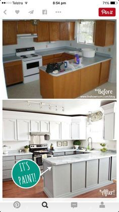 cheap reno on kitchen - layout is the key I think to be able to transform on a budget - see how not much has changed except the cosmetic stuff.