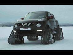 """Nissan Juke NISMO RSnow интересная замена Снегоходу. Компания Nissan построила, пожалуй, самую необычную версию кроссовера Juke: его """"заряженную"""" версию Nismo RS поставили на гусеницы вместо колес."""