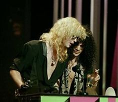 Duff & Slash of Guns N' Roses, late '80s