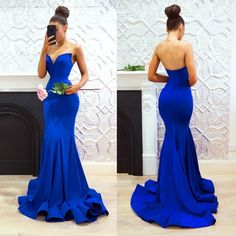 Promfast Sexy Royal Blue Prom Dresses, Sweetheart Neck Mermaid Evening Gowns sold by PROMFAST. Shop more products from PROMFAST on Storenvy, the home of independent small businesses all over the world. Royal Blue Evening Dress, Royal Blue Prom Dresses, Blue Evening Dresses, Prom Dresses 2018, Evening Gowns, Blue Dresses, Strapless Dress Formal, Formal Dresses, Dress Prom