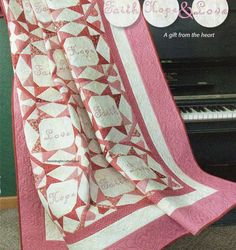 Faith Hope & Love Quilt Pattern Pieced/Paper Pieced/Embroidery CM