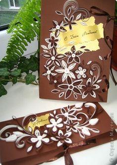 Открытка День рождения Квиллинг открытка Бумажные полосы фото 1