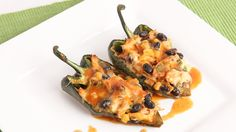 Chicken Enchilada Stuffed Peppers Recipe - Laura Vitale - Laura in the K...