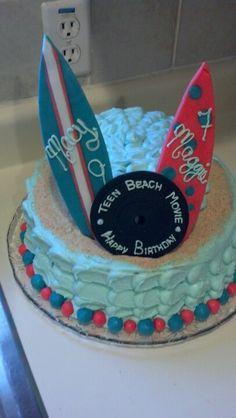 Teen Beach Movie inspired birthday cake! 7th Birthday Party Ideas, Birthday Cakes For Teens, Teen Birthday, Birthday Bash, Birthday Parties, Kid Cakes, Cupcake Cakes, Cupcakes, Movie Party