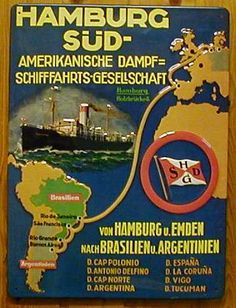 Hamburg-Sud ~ Hamburg-Süd ~ Hamburg-South America Line ~ Hamburg-South American Line