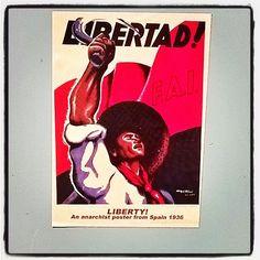 #Libertad! #streetart #sticker of #poster #Spain, 1936. #streetphotography #activism #katutaidetta #Helsinki #kallio