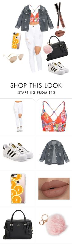 """""""Colorful cutie"""" by abbymartinez808 on Polyvore featuring Vitamin A, adidas Originals, Casetify, Kendall + Kylie, Kate Spade and Alexia Crawford"""
