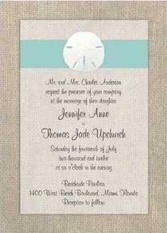 sand dollar beach wedding invitation. They want 2.00each. Make it!