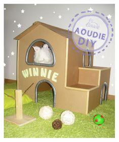Ma  winnieadore faire la sieste bien cachée dans les petits coins. Comme  tout petit lapin elle aime les cabanes à entrées mult...