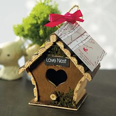 Mini Love Nest Birdhouse Favors (Set of 4) from Wedding Favors Unlimited