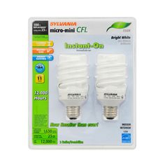 Good white color.  3500k.    Not too yellow   Goog with gray walls .  SYLVANIA 2-Pack 23-Watt (100W) Spiral Medium Base Bright White (3500K) CFL Bulbs ENERGY STAR