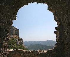the Chateau Peyrepertuse in Aude, Languedoc-Roussillon