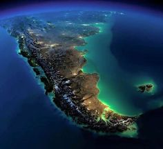 Photography -South America -Argentina and Chile- Amazingly Beautiful Views of Earth at Night without any Clouds Earth And Space, Beautiful World, Beautiful Places, Earth At Night, Photos Du, Timeline Photos, Stock Photos, Planet Earth, Wonders Of The World