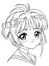 Cardcaptor Sakura Color Page Cartoon Characters Coloring Pages Cardcaptor Sakura, Coloring Pages For Girls, Colouring Pages, Coloring Books, Girly Drawings, Colorful Drawings, Pin Up Princess, Card Captor, Fantasy Drawings