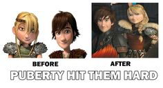 How To Train Your Dragon Before and After. by rozeru-chan.deviantart.com on @deviantART
