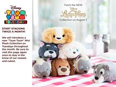 Lady and the Tramp Tsum Tsum Collection - Release Date: August 1, 2017