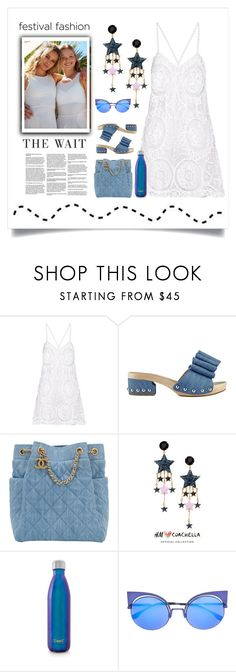 """""""Fashion Festival"""" by conch-lady ❤ liked on Polyvore featuring Anjuna, Sigerson Morrison, Chanel, H&M, S'well, Fendi, Fashionfestival, coachella2017 and thewait"""