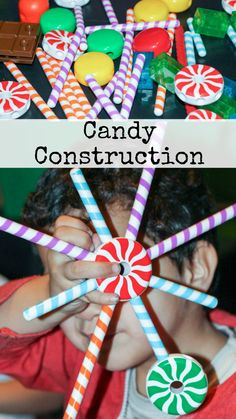 Candy construction for imaginative play.