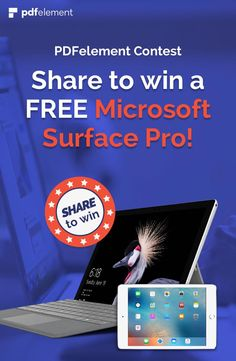 Vote and share your options with AcrobatAlternative to win a FREE Microsoft Surface Pro or iPad mini! Enter here:https://goo.gl/4vt2Ko #AcrobatAlternative @PDFElement