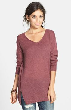 BP. Side Zip Tunic Sweater (Juniors) available at #Nordstrom