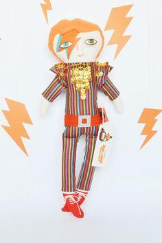 David Bowie doll / Aladdin Sane / Cloth doll / by MandarinasDeTela . Mandarinas de Tela #mandarinasdetela