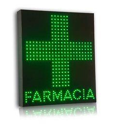Insegna Monofacciale a LED per Farmacia Disponibile anche Mod. Bifacciale. Formato cm 60*70.