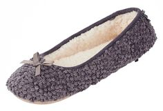 MIXIN Women's Ballerina Velveteen Soft Sole Indoor Slippers * Additional details at the pin image, click it  at Women's Shoes board