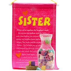 Message Bottle & Scroll for My Sis Rakhi Festival, Rakhi Gifts For Sister, Message In A Bottle, Sisters, Messages, Text Posts, Text Conversations