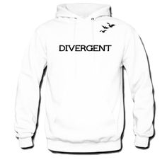 Divergent Hoodie Front and Back Tris and Four's by Supersticker77, $28.00