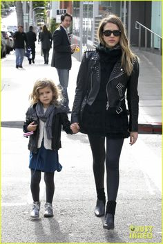 Jessica Alba & Honor: Matching Outfits For Lunch!