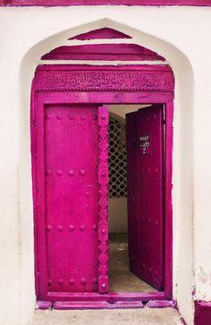 Awesome magenta door