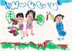 ■■■大熊幼稚園/6歳/男の子■■■ 【作品タイトル】トンボさん、にげないで!!【伝えたい事】トンボがたくさん飛んでいるのに、なかなかつかまえられない。あ~あ、もう少しだったのになぁ。