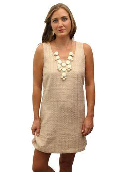 Gold Shift Dress  www.wearwillow.com
