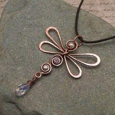 dragonfly pendant | Delia Stone's Studio
