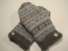 Marshall Wool Mittens  med/lg  MMC498 by MichMittensbyLauri, $23.00