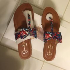 Jessica Simpson flat sandals. Brand new Jessica Simpson multi color flats Shoes Flats & Loafers