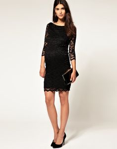 ASOS Maternity Lace Dress ($81) - I bought this and LOVE it! So comfortable and flattering <3