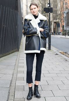 Model and writer Victoria Sekrier wearing a Paper London jacket, Acne boots and Joseph trousers