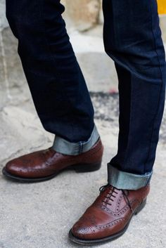 Jeans and Wingtips