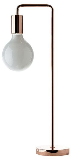 Simple copper lamp / Simpel kobber lampe - By ILVA