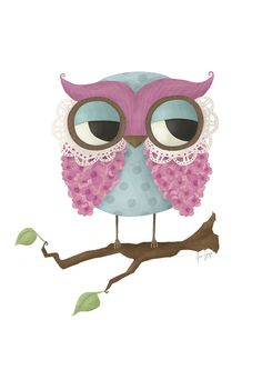 'Pink Owl' by Anna Grape